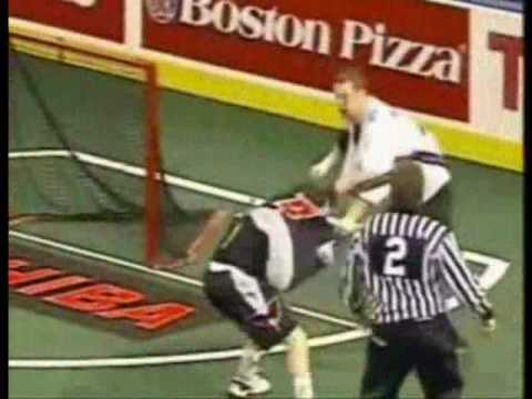Lacrosse hits and fights