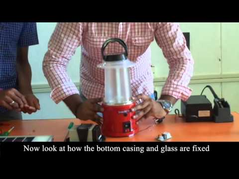 Solar LED Lantern assembly Demo