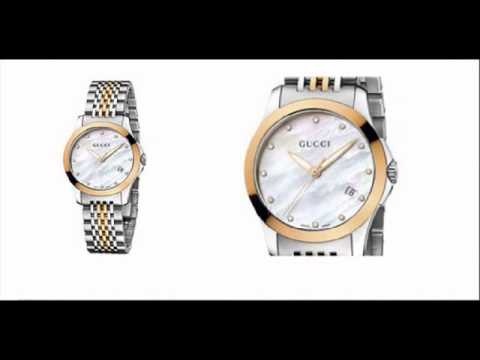 f00063a5d2f Gucci G-Timeless Ladies 2 Tone Steel Bracelet Watch YA126514 - YouTube