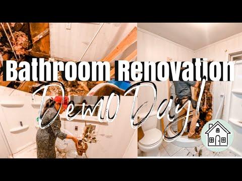 MAJOR BATHROOM RENOVATION| DYI BATHROOM RENOVATION| Complete bathroom makeover #homerenovation