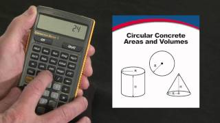 Construction Master 5 Circular Area & Volume How To