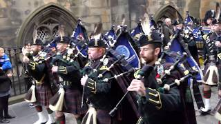 4 Scots - The Highlanders - Parade The Royal Mile - Armistice Day 2018 [4K/UHD]