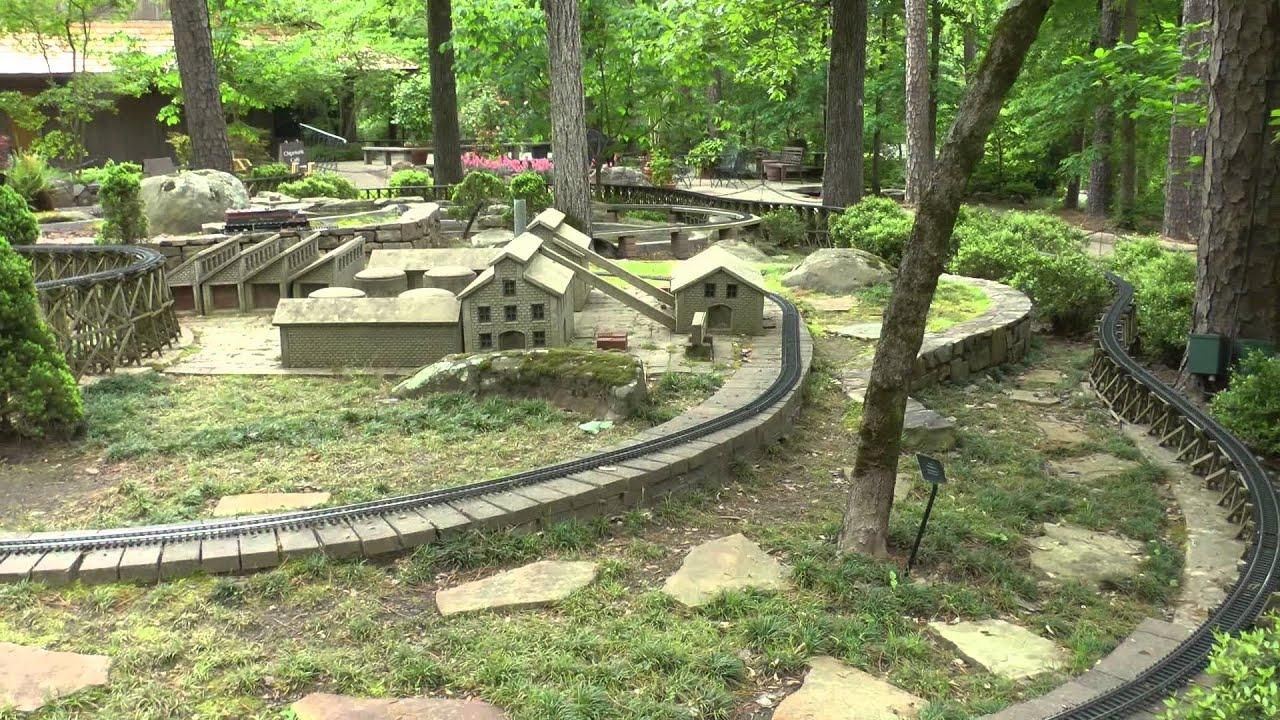 Garden Trains At Garvan Woodland Gardens Hot Springs Arkansas Youtube