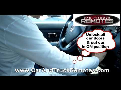 Honda Civic Replacement Remote Programming 2001 2005