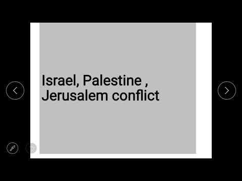 Israel-Palestine-Jerusalem conflict