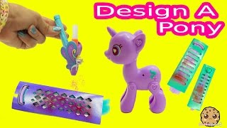 Design A My Little Pony Starlight Glimmer Pop MLP with Blow Color Hair Pen Playset Video Review