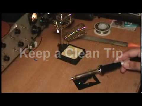 how to tin a soldering iron youtube. Black Bedroom Furniture Sets. Home Design Ideas