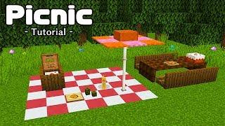 【マインクラフト】ピクニックの作り方  (プロの裏技建築)