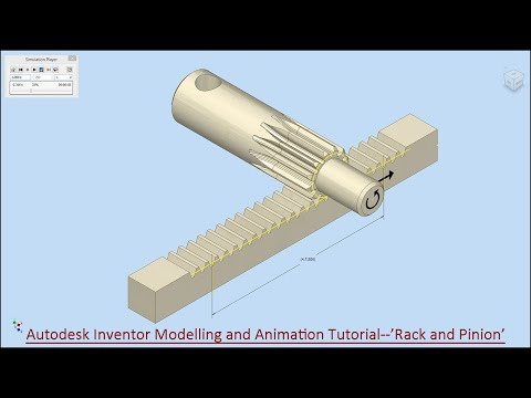 Autodesk Inventor Modelling and Animation Tutorial--'Rack & Pinion'
