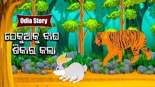 Thekua Ku Bagha Shikar Kala ଠେକୁଆକୁ ବାଘ ଶିକାର କଲା Odia Moral Story For Kids | HookeHoo TV