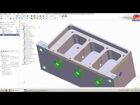 Feature based drilling in SprutCAM