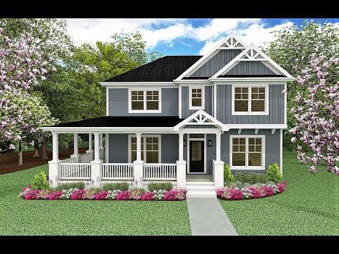Oxford Plan - Charleston Coastal Farmhouse - Charlotte Custom Home Builder | PresPro Custom Homes