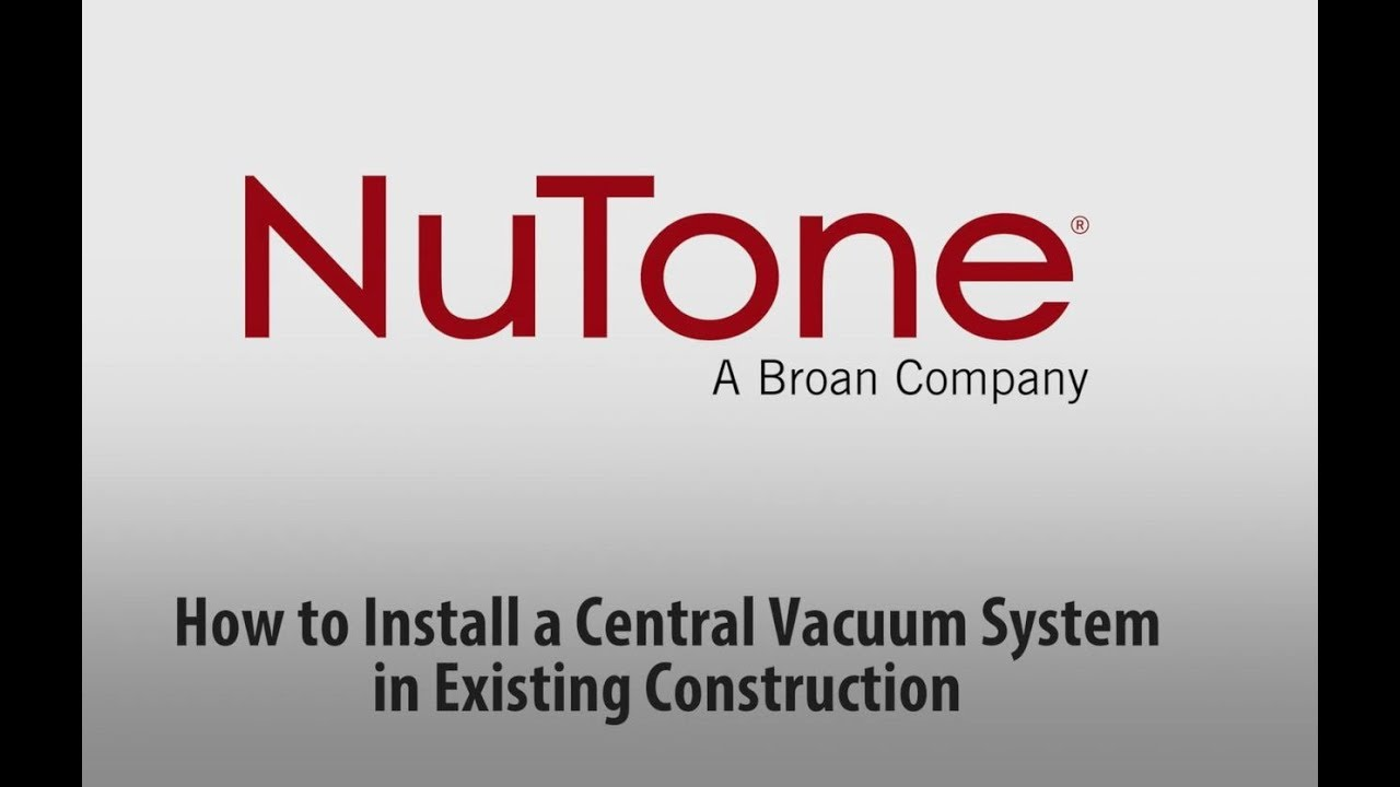 how to install a central vacuum system in existing construction youtube [ 1280 x 720 Pixel ]