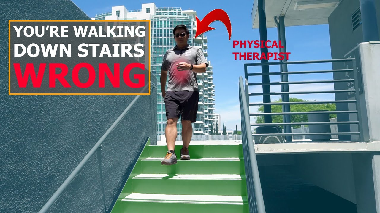 Walk Down Stairs the RIGHT WAY | How to Descend Stairs | Physical Therapy