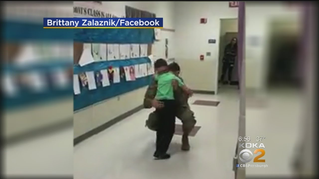 Watch: Soldier Returns Home, Surprises Younger Brother At School