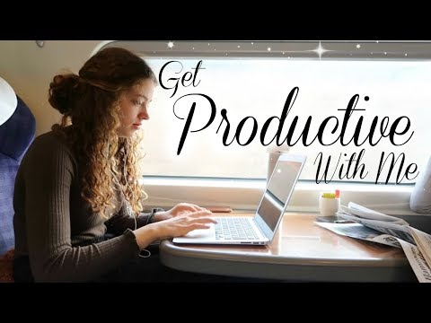 Get Productive & Study With Me ~ on a train 🌻 x