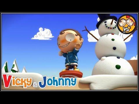 Vicky & Johnny  Episode 70  SNOWBALL FIGHT 2  Full Episode for Kids  2 MIN