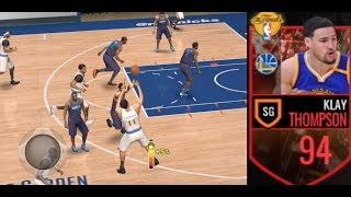 NBA Finals Klay Thompson Has STUPID UNLIMITED RANGE! NBA Live Mobile Gameplay
