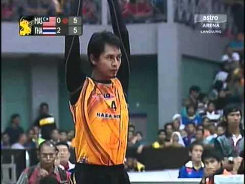 ตะกร้อชิงแชมป์โลก 2011 ไทย-มาเลเซีย Set 3.1