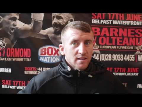 IRISH HERO PADDY BARNES TALKS WBO EUROPEAN TITLE FIGHT IN BELFAST / BATTLE OF BELFAST