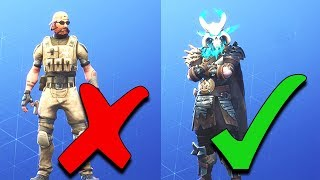 RANKING EVERY SEASON 5 SKIN FROM WORST TO BEST IN FORTNITE..