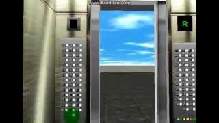 Elevator at simple building (Skyscraper simulator 3D)