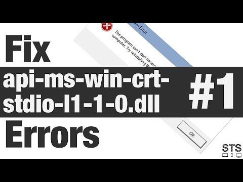 How To Fix Api-ms-win-crt-stdio-l1-1-0.dll Errors Method #1