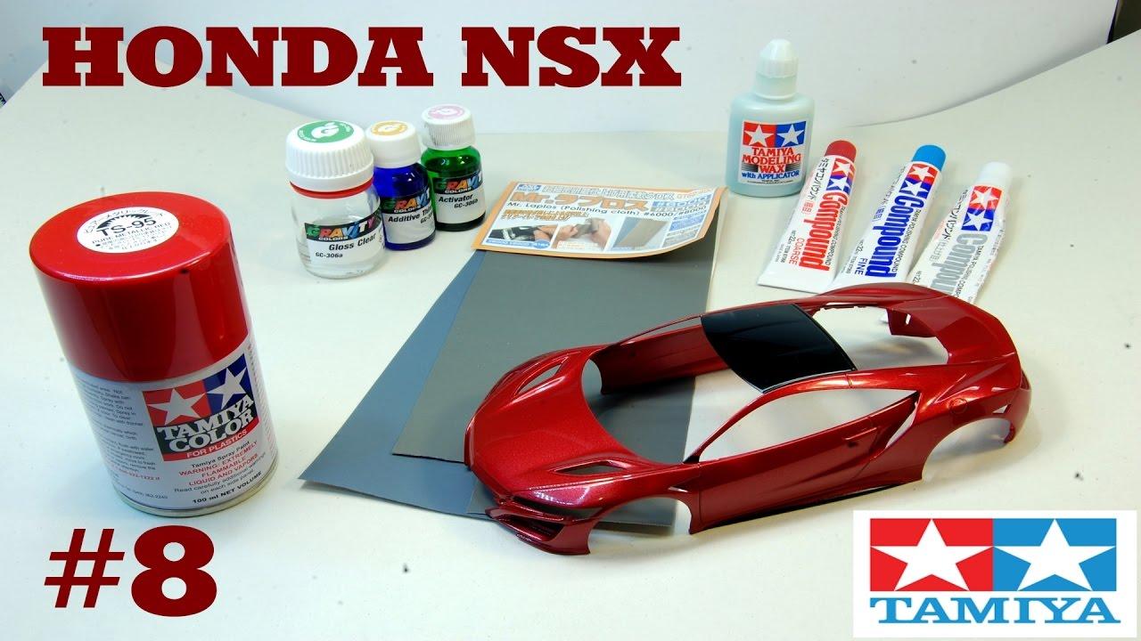 Tamiya Honda Nsx 1 24 Part 8 Varnish Amp Polishing Youtube