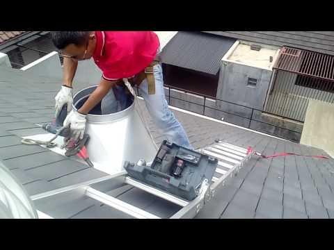 Cara pemasangan turbin ventilator di perumahan