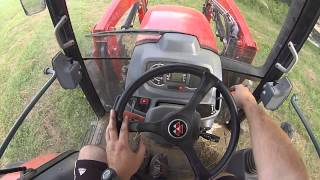 Cutting hay with a Massey Ferguson 4610 and New Holland 1412 Discbine