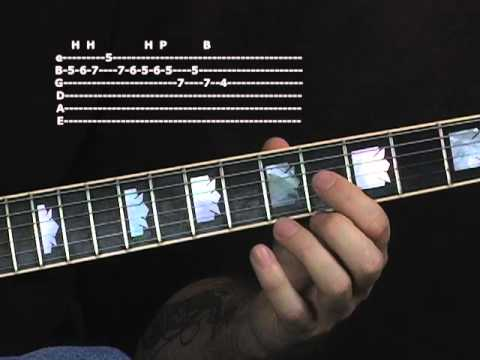 Lead guitar lesson learn how to solo blues rock licks scales on Gibson Les Paul Standard