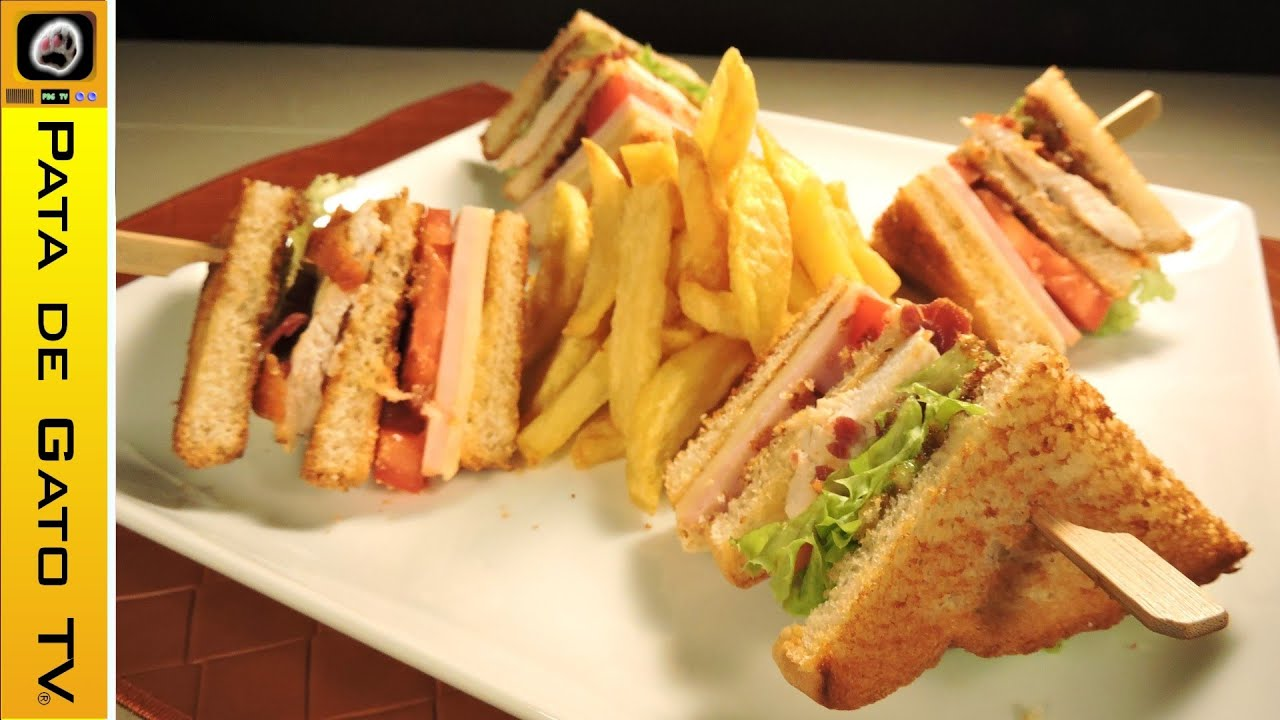 Club sándwich, muy fácil / Very easy club sandwich - YouTube