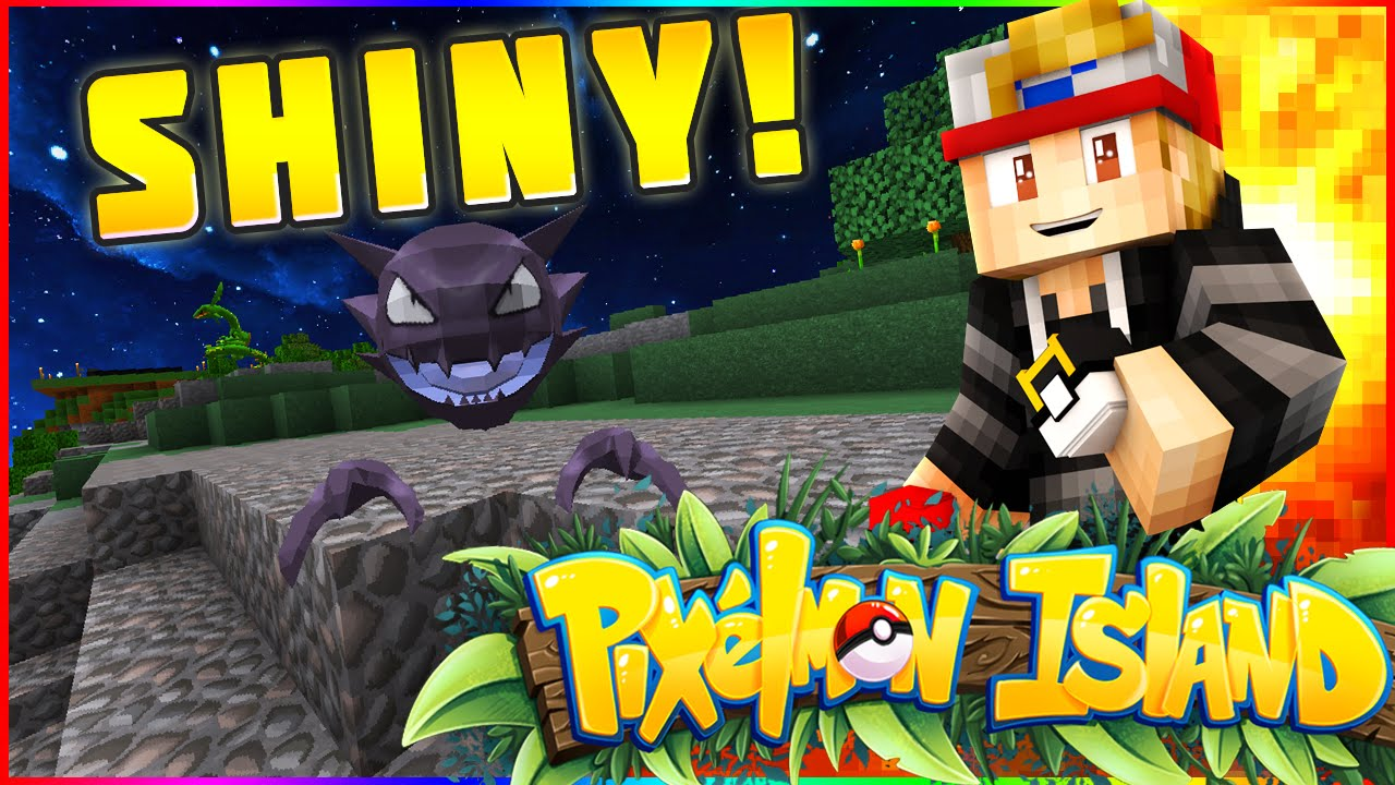 Shiny Gastly Haunter Pixelmon Island Smp 26 Youtube