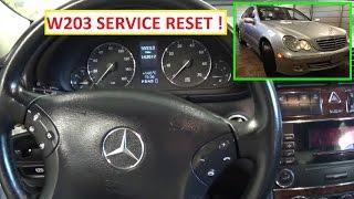 Mercedes W203 Service Reset.  Service A Reset C180 C200 C220 C230 C240 C270 C280 C350