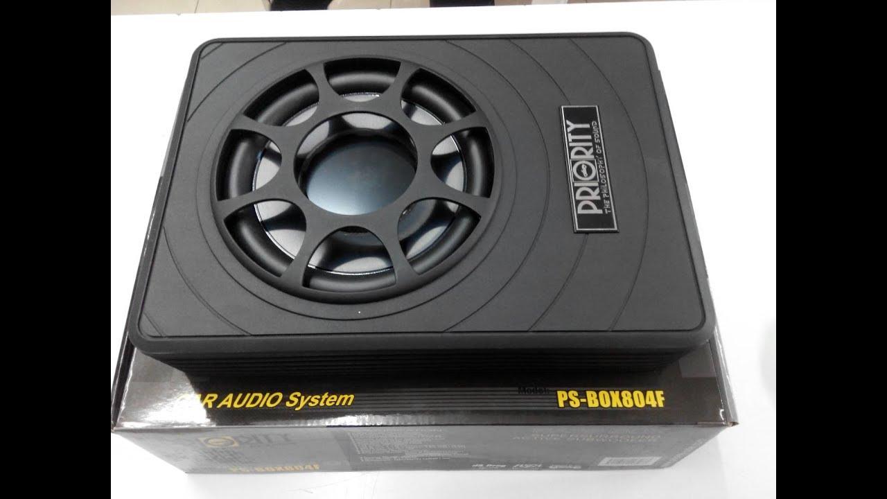 """BASS BOX 8"""" PRIORITY รุ่น PS-804F ราคาถูกๆ ติดตั้งง่าย ไม่ต้องเจาะรถ เนื้อเบสนุ่มๆ"""