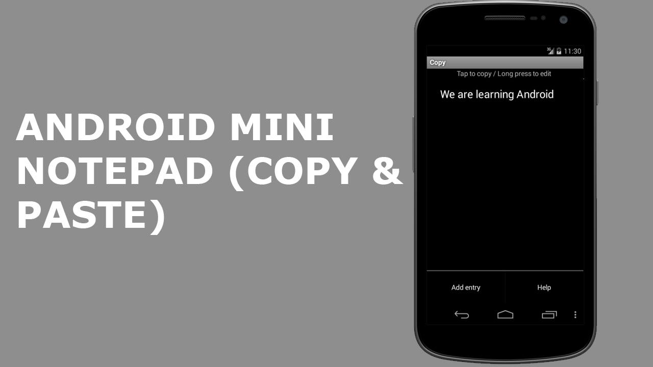 ANDROID MINI NOTEPAD (COPY & PASTE APP)