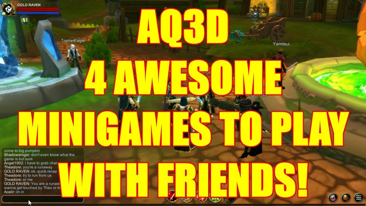 AQ3D 4 AWESOME Minigames To Play With Friends! AdventureQuest 3D