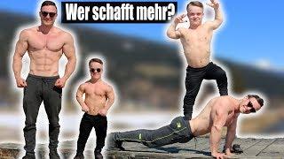 Sascha Huber VS. Kleinwüchsiger Zuschauer | Liegestütz Challenge Extrem