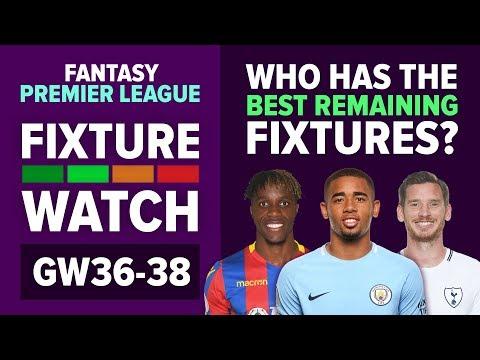 Who Has The Best Fixtures? | Gameweek 36-38 | FIXTURE WATCH | Fantasy Premier League