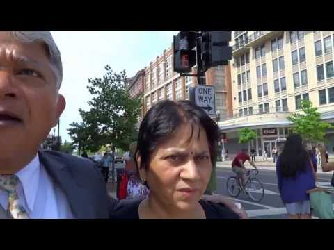 Aruna & Hari Sharma shopping at Columbia Heights Supermarket Washington DC, USA May 16, 2013