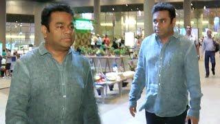 A  R  Rahman Spotted At Mumbai Airport