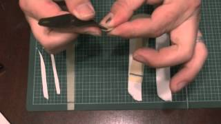 How to make and attach a band set  using cotton tape