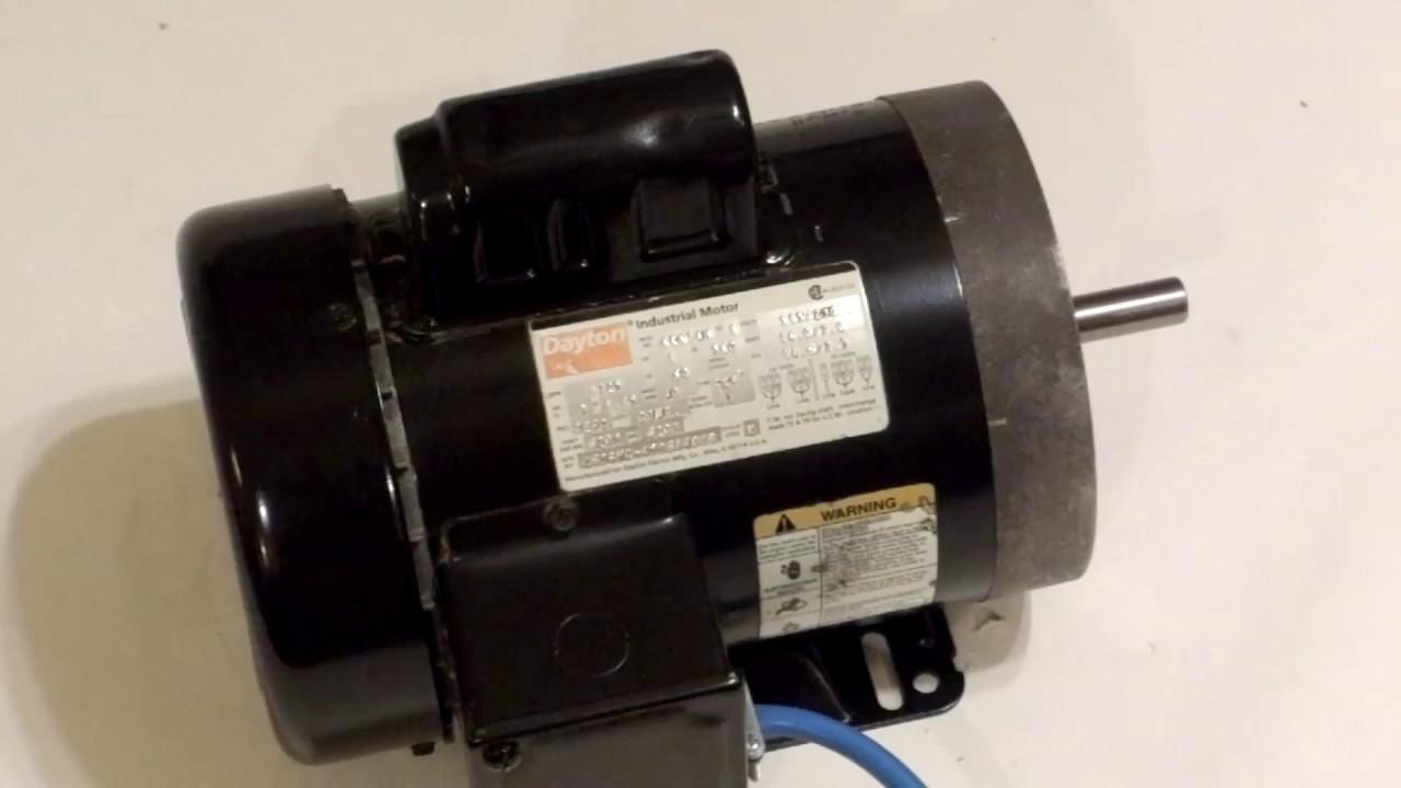 Dayton 6k674h 1hp Industrial Motor 1725rpm 115 230v Single Phase Grainger Wiring Diagrams