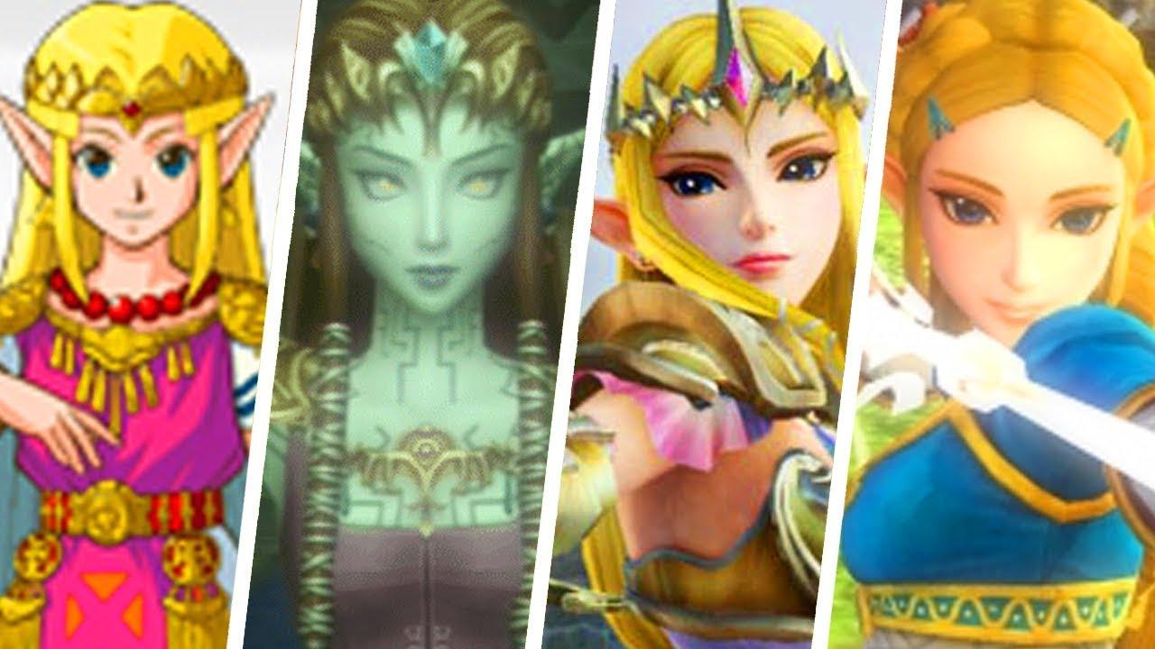 Evolution Of Princess Zelda 1986