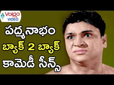 Padmanabham Non Stop Telugu Comedy Scenes || Padmanabham Back 2 Back Funny Scenes || Volga Videos