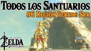 Todos los Santuarios de Zelda Breath of the Wild #6   Region Gerudo Sur