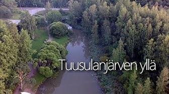 Tuusulanjärven yllä / Flying over lake Tuusulanjärvi