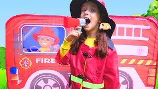 Ulya and story about Firefighters squad | Funny stories for kids