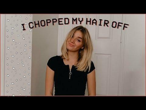 i really chopped my hair off (sorry mom) thumbnail