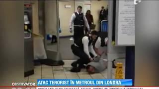 Atac terorist în metroul din Londra. Un individ a înjunghiat trei persoane